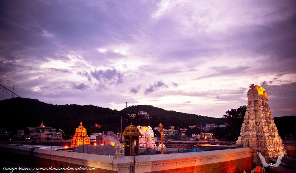 famous hindu religious places in india : Tirumala-Venkateshwara-Temple