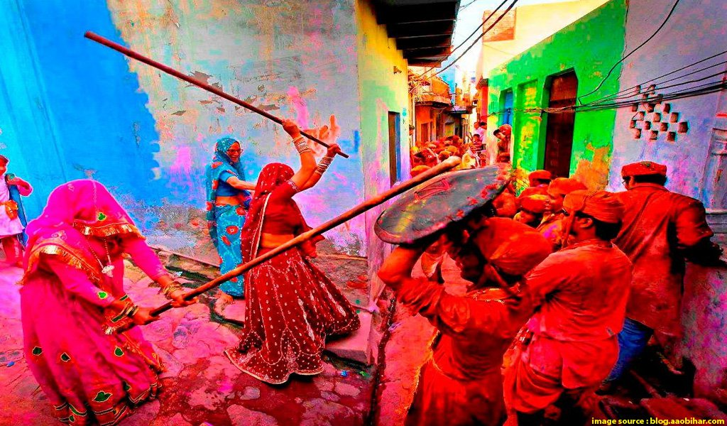 holi in vrindavan