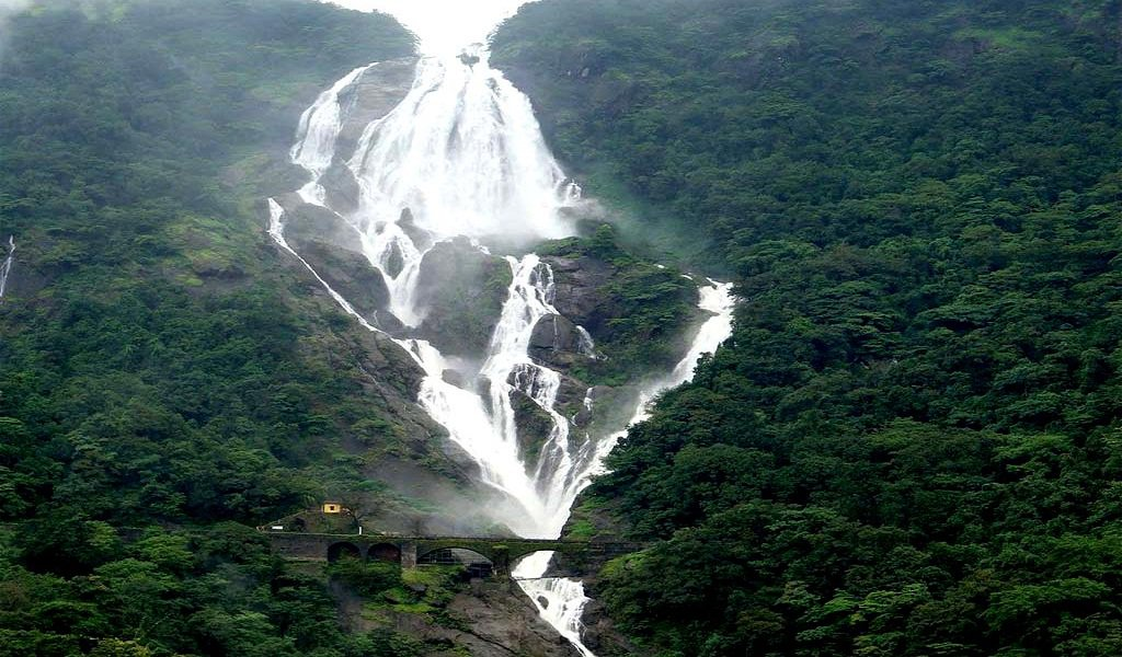 DUDHSAGAR Waterfall one of the places to visit in Goa