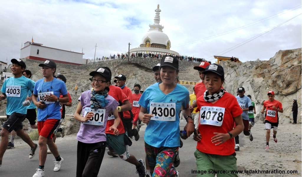 Places in India to relax : Ladakh marathon
