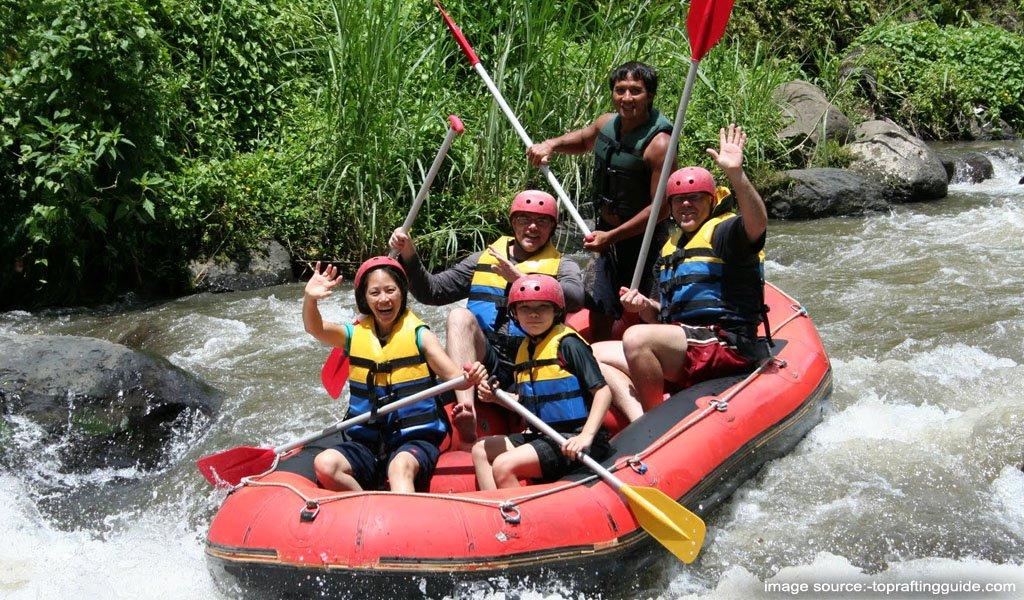 Rafting on River Brahmaputra