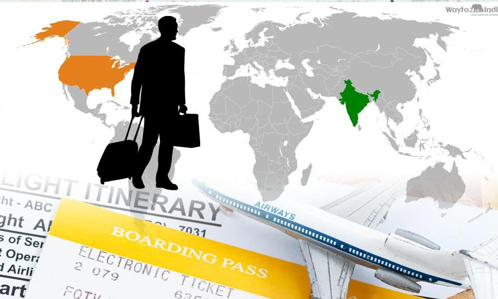 Travel from USA to India