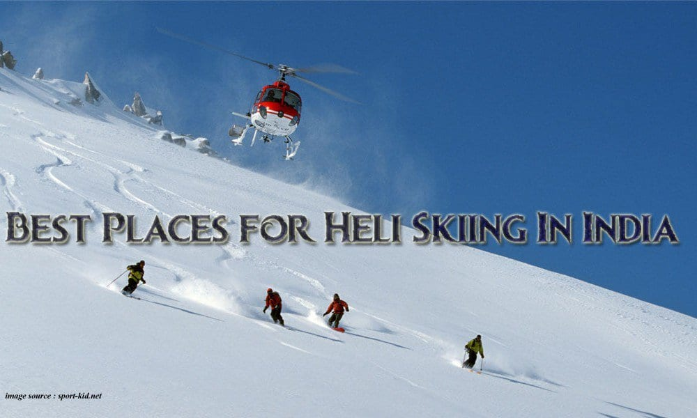 heli skiing in india