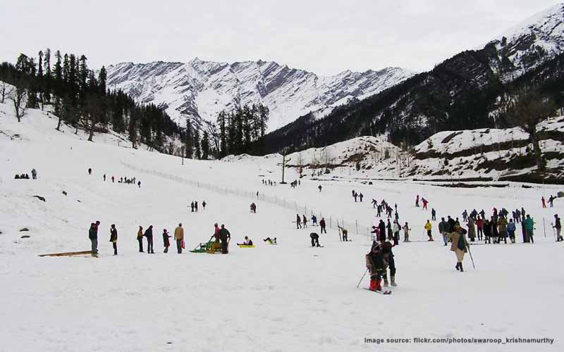 Heli skiing in India : heli skiing in Manali