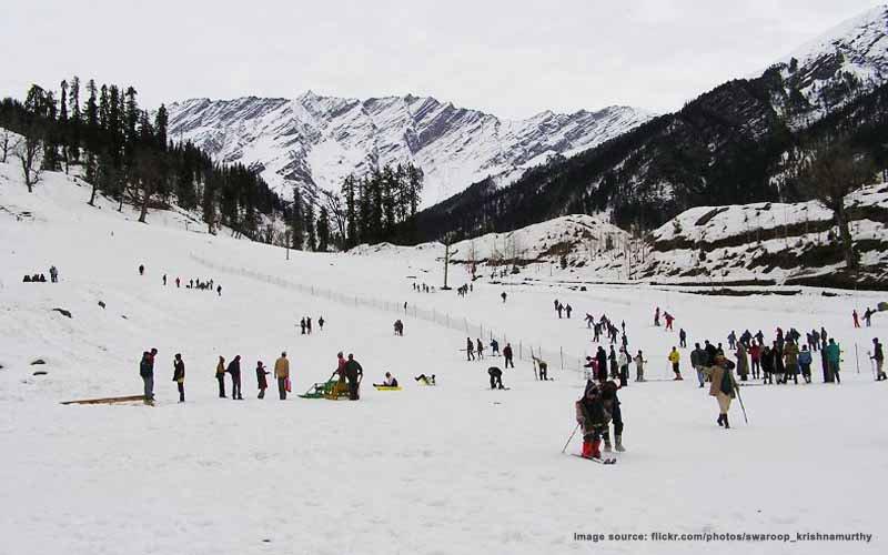 Heli skiing in India : heli skiing in Manali