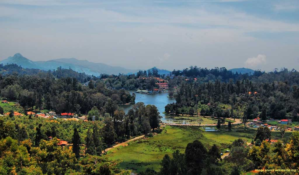 Aerial View of Kodaikanal
