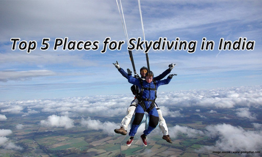 Top 5 Places For Skydiving In India Waytoindia