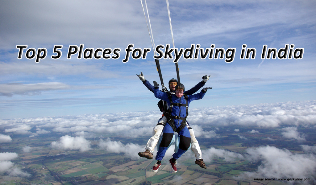 Top 5 Places for Skydiving in India | Waytoindia com